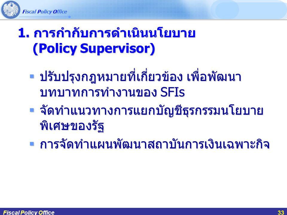 1. การกำกับการดำเนินนโยบาย (Policy Supervisor)