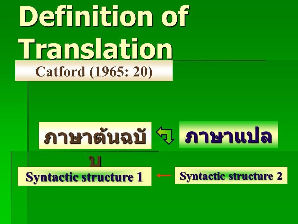Definition of Translation