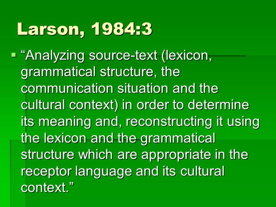 Larson, 1984:3