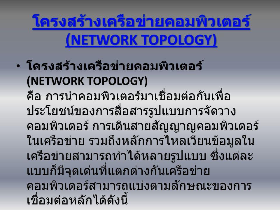 โครงสร้างเครือข่ายคอมพิวเตอร์ (NETWORK TOPOLOGY)