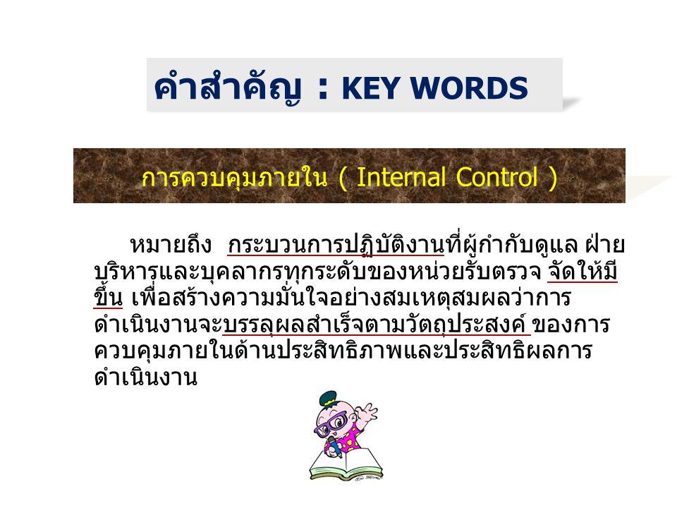 การควบคุมภายใน ( Internal Control )