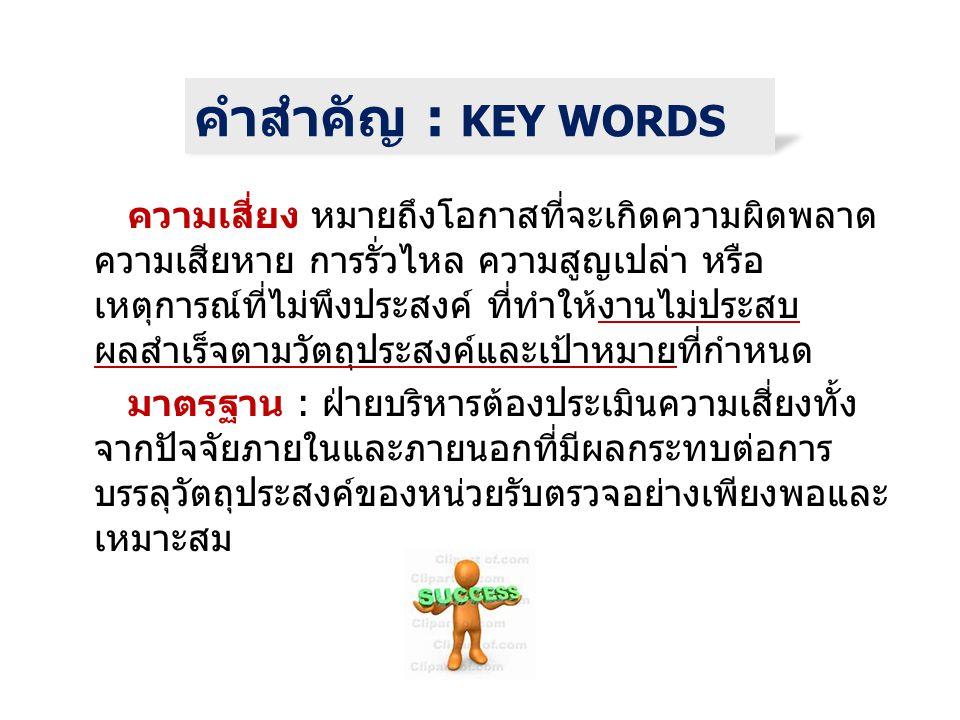 คำสำคัญ : KEY WORDS