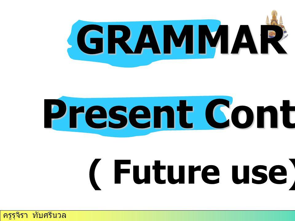 GRAMMAR Present Continuous ( Future use)