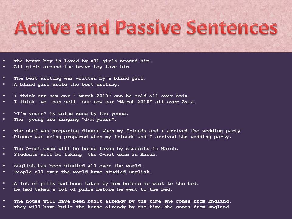 Active and Passive Sentences