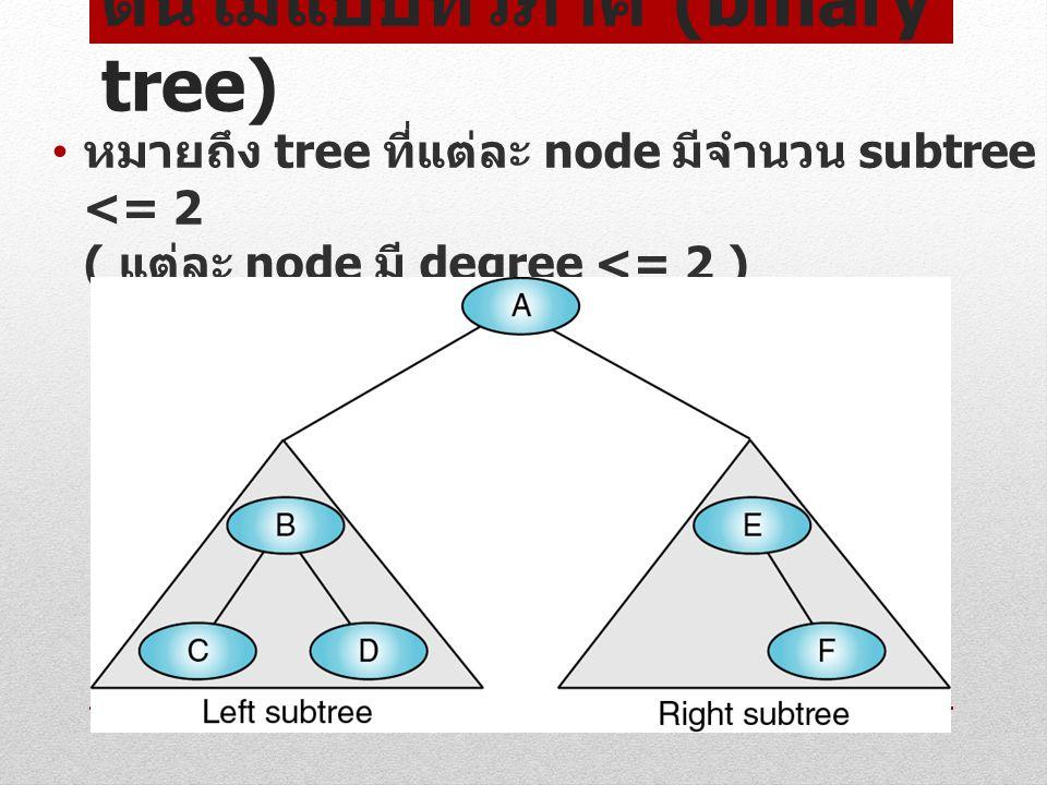 ต้นไม้แบบทวิภาค (binary tree)