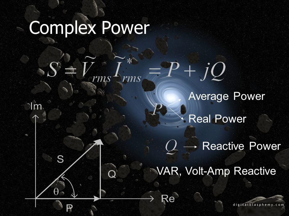 Complex Power Average Power Real Power Reactive Power