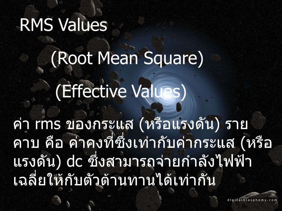 RMS Values (Root Mean Square) (Effective Values)