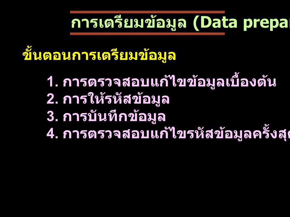 การเตรียมข้อมูล (Data preparation)