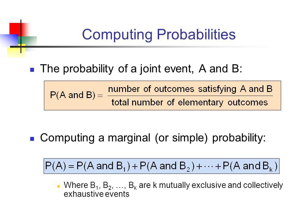 Computing Probabilities