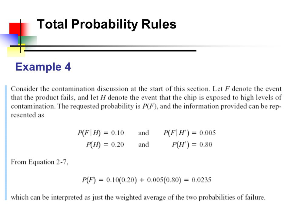 Total Probability Rules