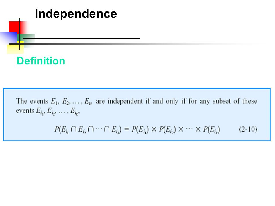 Independence Definition