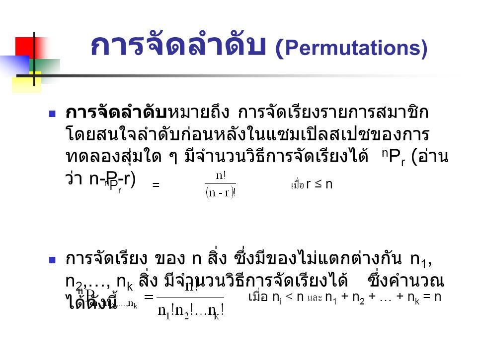 การจัดลำดับ (Permutations)