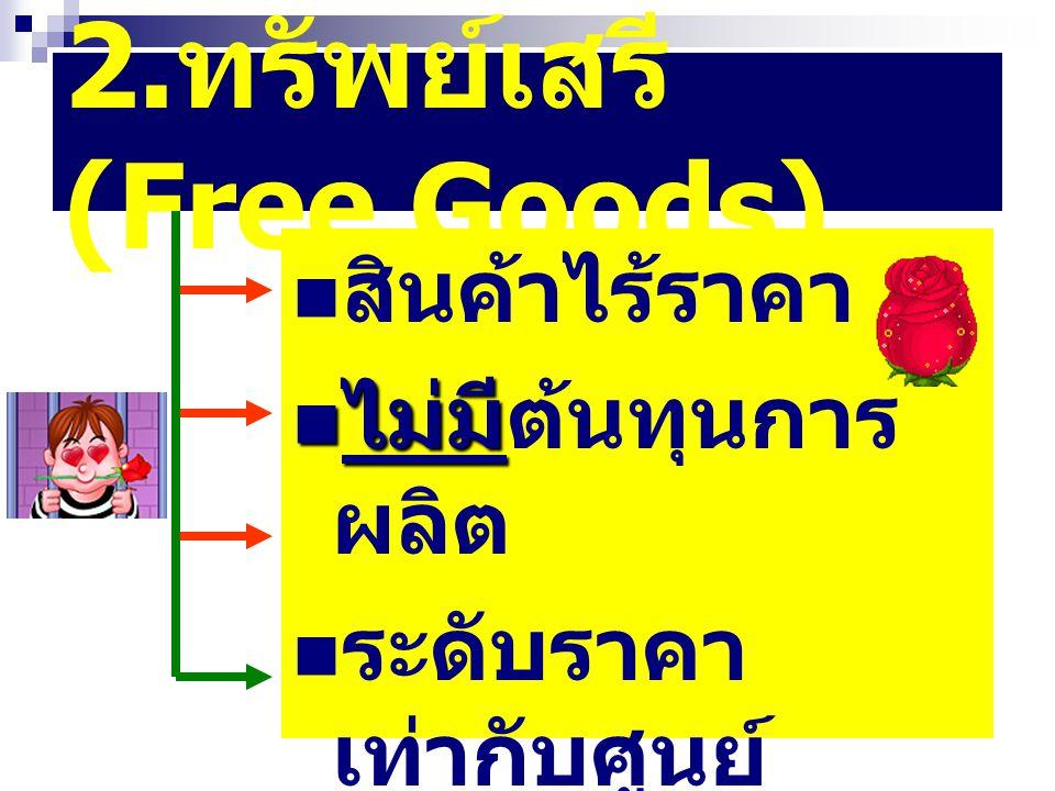 2.ทรัพย์เสรี (Free Goods)