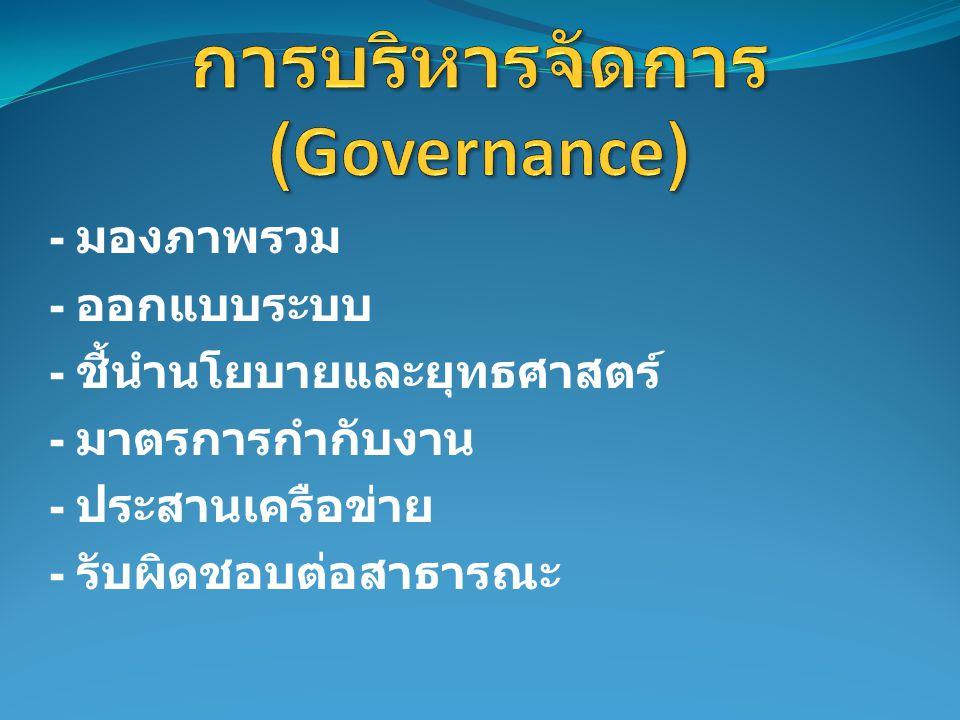 การบริหารจัดการ (Governance)