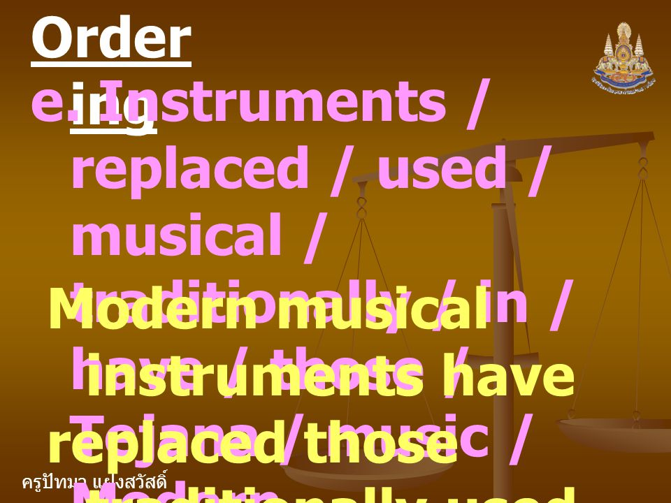 Ordering e. Instruments / replaced / used / musical / traditionally / in / have / those / Tejana / music / Modern.