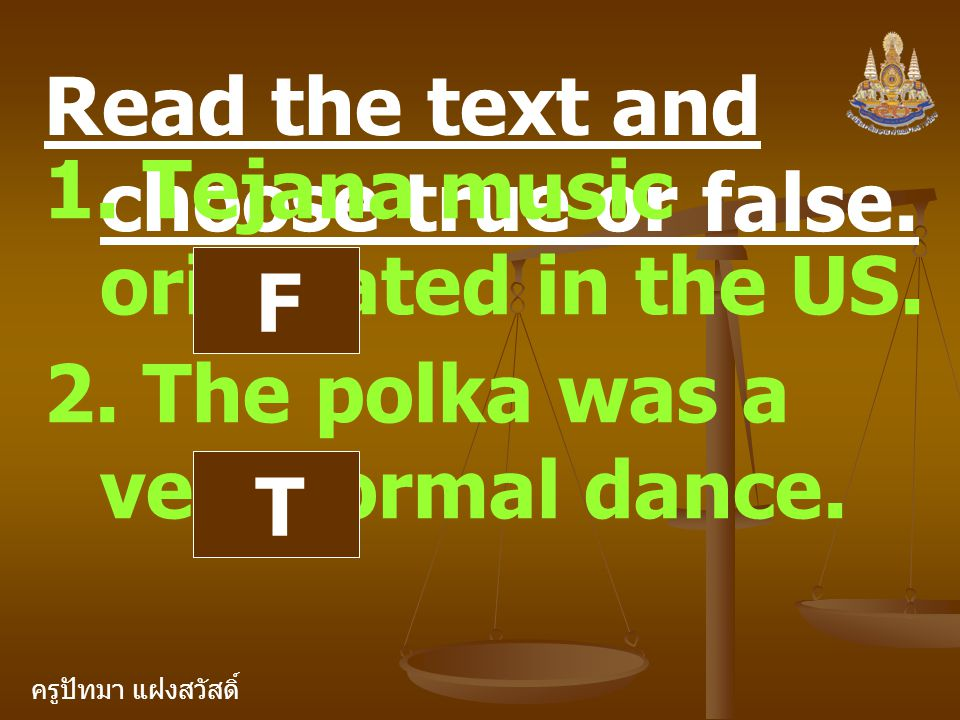 Read the text and choose true or false.