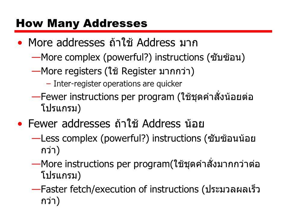 More addresses ถ้าใช้ Address มาก