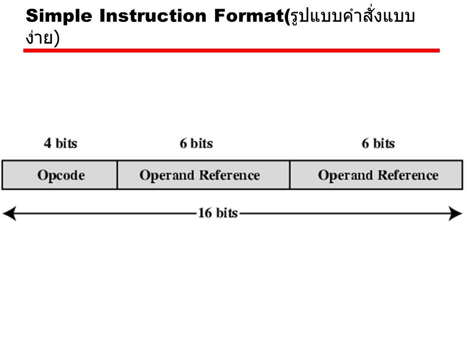 Simple Instruction Format(รูปแบบคำสั่งแบบง่าย)