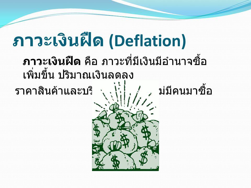 ภาวะเงินฝืด (Deflation)