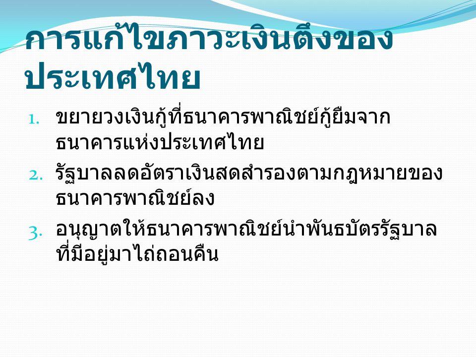 การแก้ไขภาวะเงินตึงของประเทศไทย