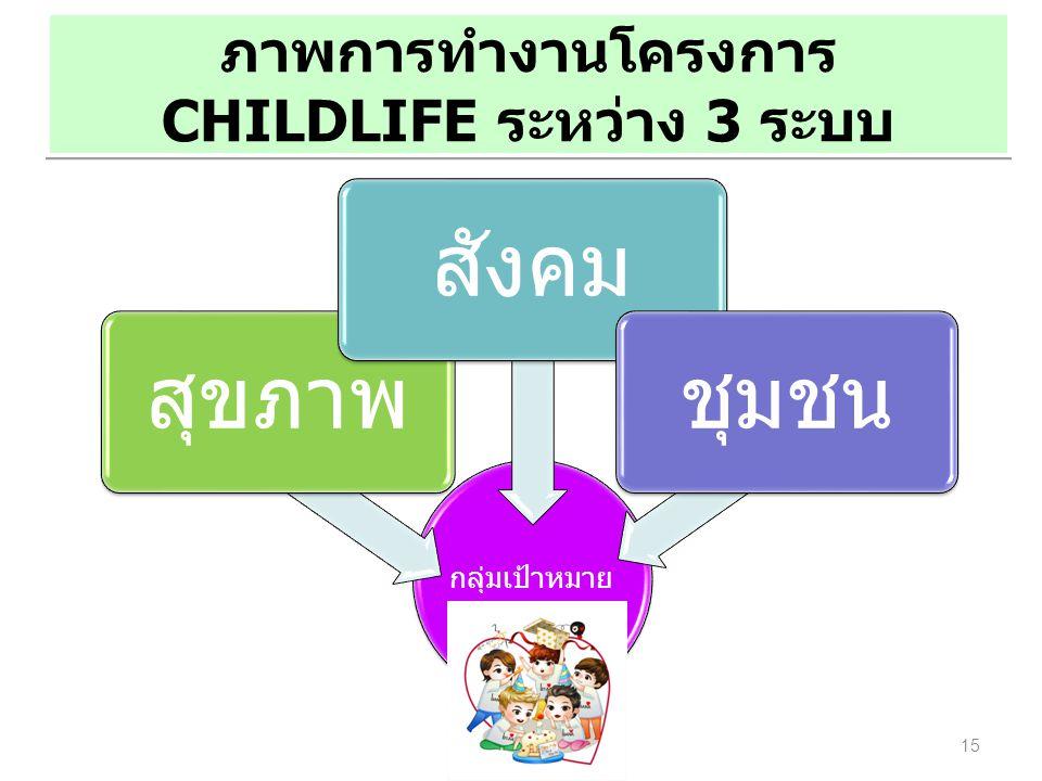ภาพการทำงานโครงการ CHILDLIFE ระหว่าง 3 ระบบ