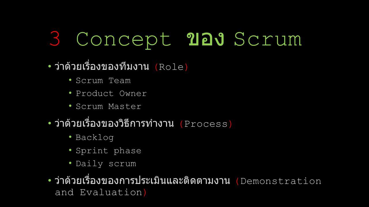 3 Concept ของ Scrum ว่าด้วยเรื่องของทีมงาน (Role)