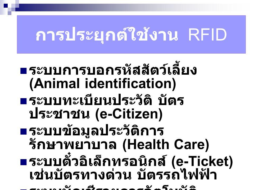 การประยุกต์ใช้งาน RFID