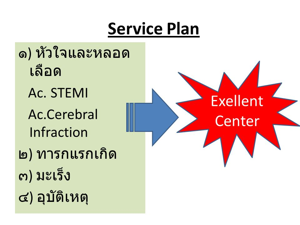 Service Plan Exellent Center