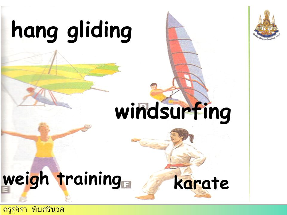 hang gliding windsurfing weigh training karate