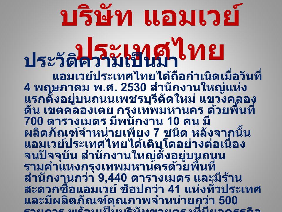 บริษัท แอมเวย์ประเทศไทย