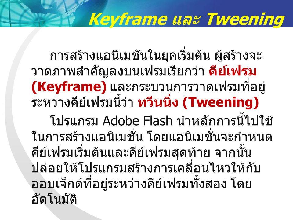 Keyframe และ Tweening