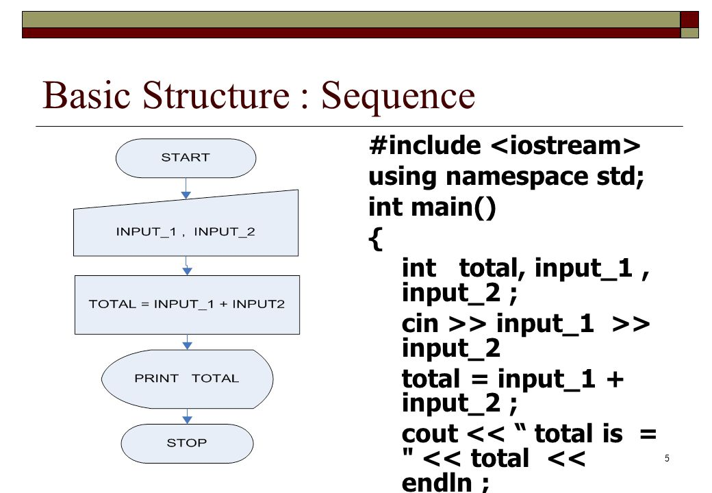 Basic Structure : Sequence