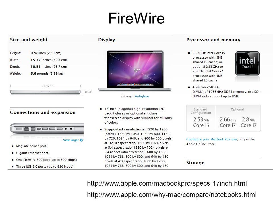 FireWire http://www.apple.com/macbookpro/specs-17inch.html