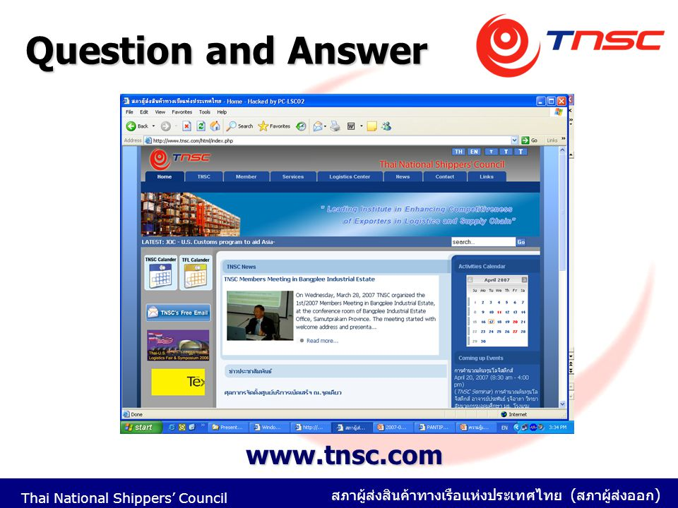 Question and Answer www.tnsc.com