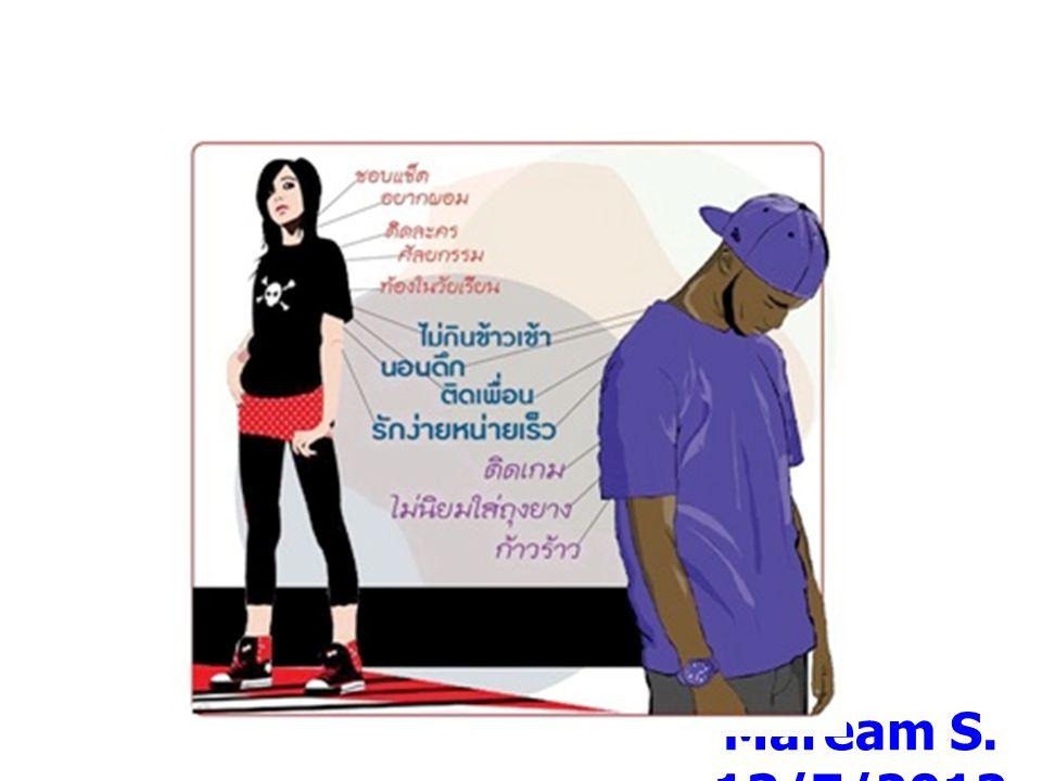 มิติด้านวัตถุ Maream S. 13/7/2012