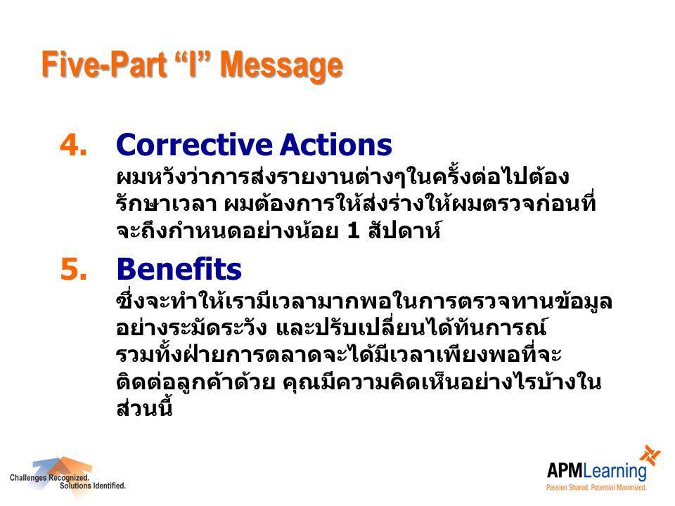 Five-Part I Message