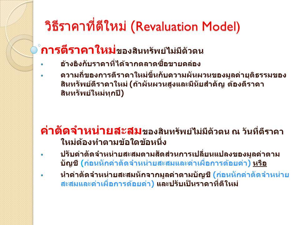 วิธีราคาที่ตีใหม่ (Revaluation Model)