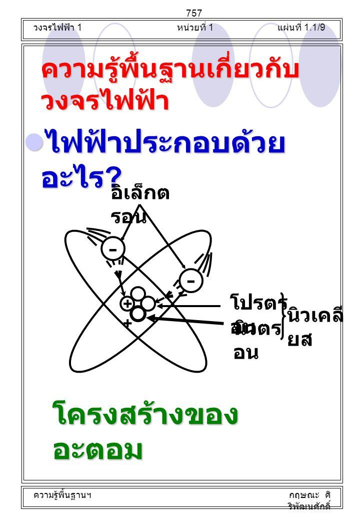 ความรู้พื้นฐานเกี่ยวกับวงจรไฟฟ้า