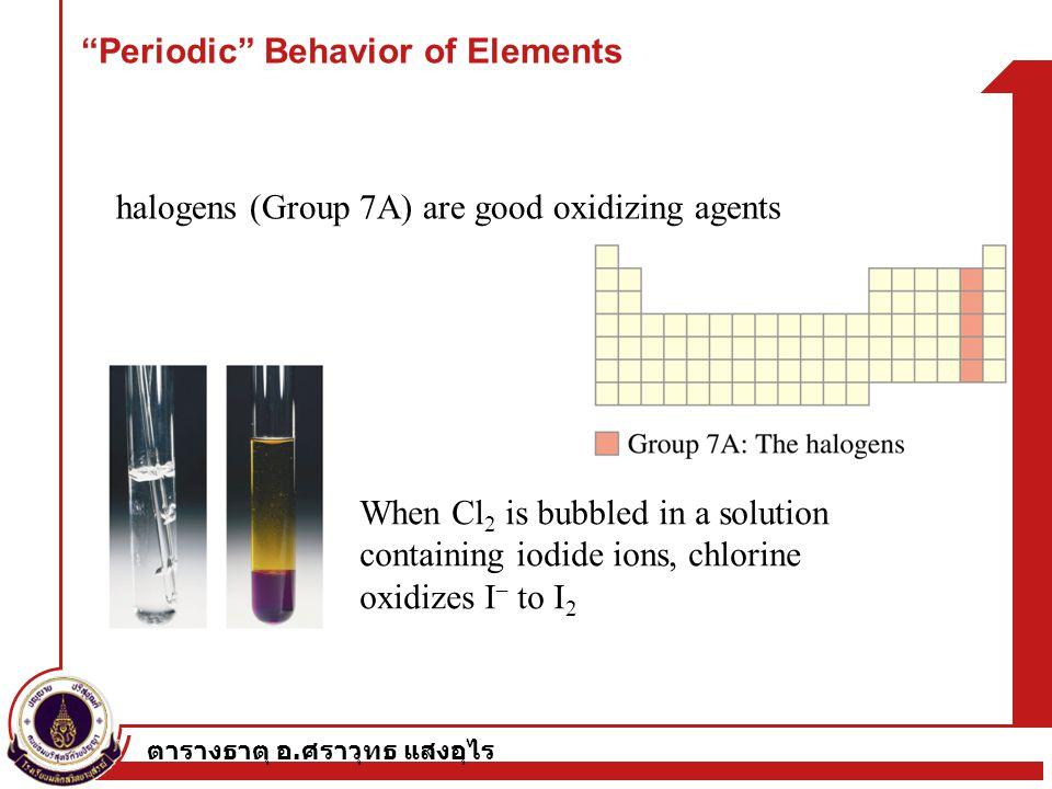 Periodic Behavior of Elements