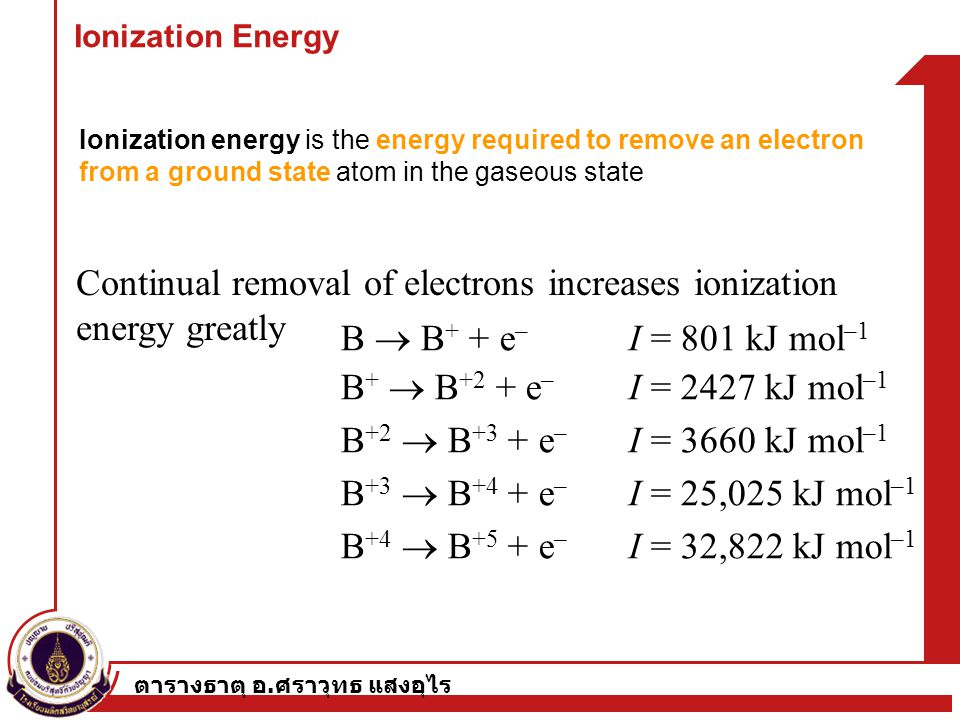 Continual removal of electrons increases ionization energy greatly