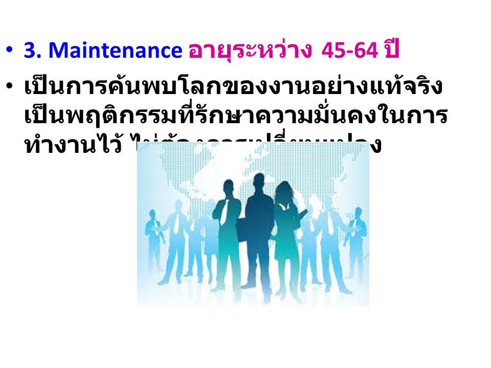 3. Maintenance อายุระหว่าง 45-64 ปี