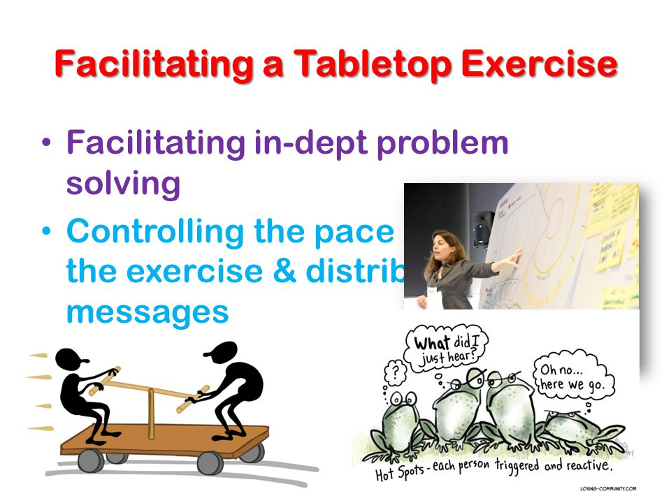 Facilitating a Tabletop Exercise