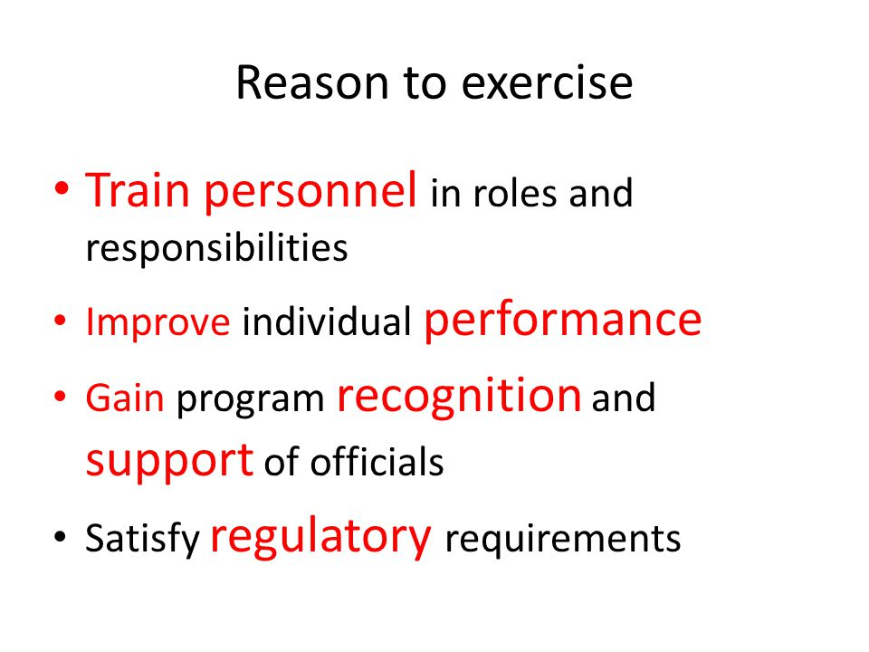 Train personnel in roles and responsibilities