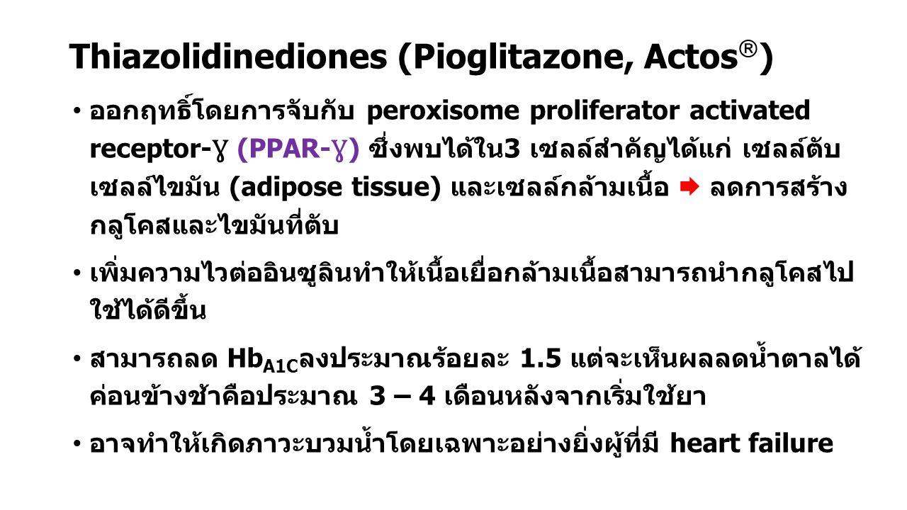 Thiazolidinediones (Pioglitazone, Actos)