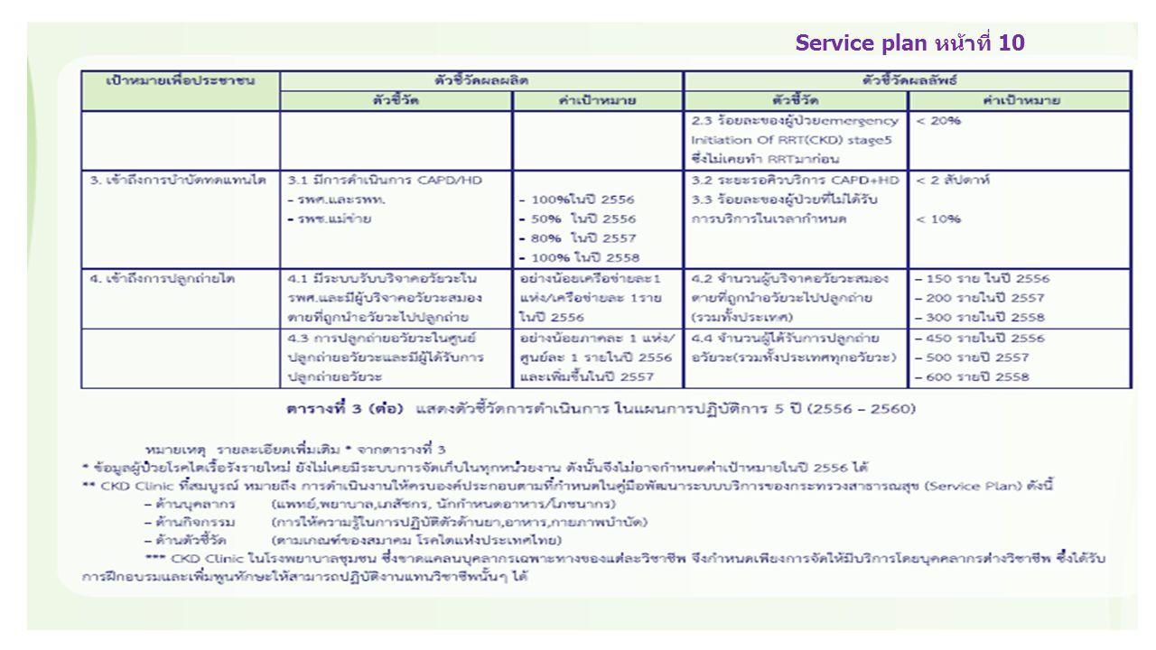 Service plan หน้าที่ 10