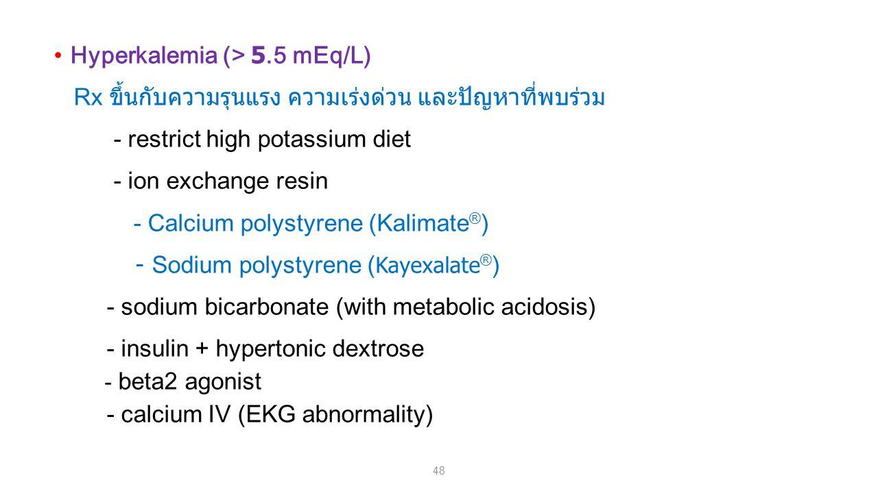 Hyperkalemia (> 5.5 mEq/L)