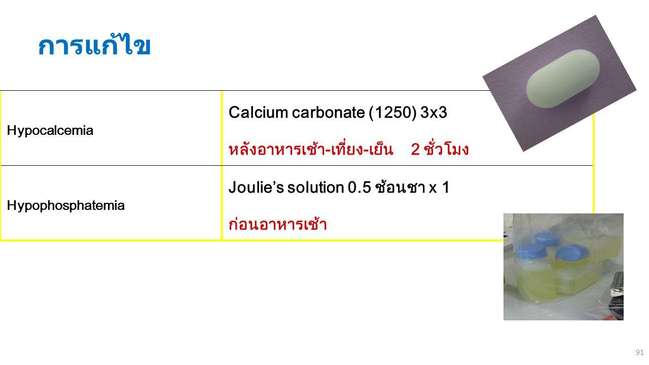 การแก้ไข Calcium carbonate (1250) 3x3