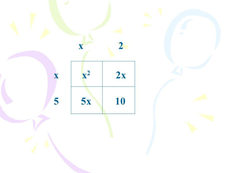 x 2 x x2 2x 5 5x 10