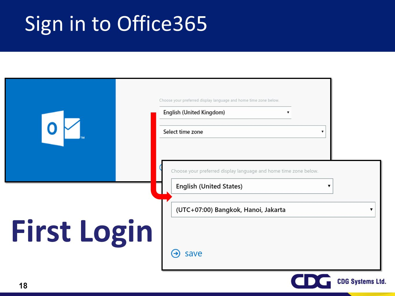 Sign in to Office365 First Login