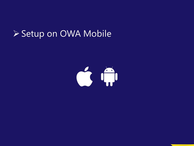 OWA Mobile Setup on OWA Mobile